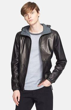Men's Vince Leather Hoodie