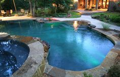 Pools - tropical - swimming pools and spas - houston - Preferred Pools Inc.