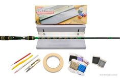 The Butt Wrap Starter Kit includes all the tools, supplies, and equipment you need to add your own custom butt wraps to any fishing rod with expert level precision!