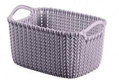 Košík Curver® KNIT 3L, svetlofialový, 25x18x14 cm Outdoor Furniture, Outdoor Decor, Tote Bag, Knitting, Bags, Home Decor, Products, Handbags, Decoration Home
