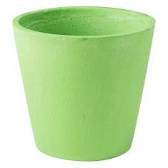 Pot peint  17 cm  Vert