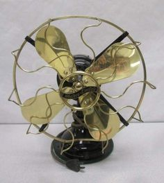 Antique Western Black Electric Fan