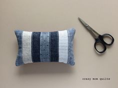 crazy mom quilts pincushion - would like to use this idea for a sofa pillow