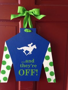 Jockey silk cutout- door hanger