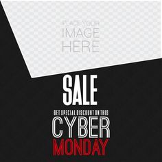 Black template with geometric shapes, cyber monday Free Vector