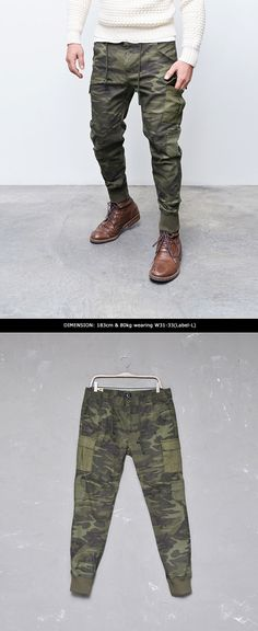 Mens Must have Camouflage Cargo Drop Jogger Pants By Guylook.com