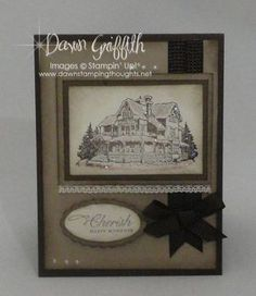 Stampin Up Christmas Lodge    http://www.dawnsstampingthoughts.net/2011/10/cherish-happy-moments-.html
