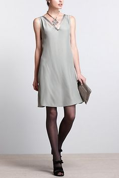 This would b great for Dorsey or Lainee!!!!!!!!------Light green and look at the cool neckline!-------Lulu Dress #anthropologie