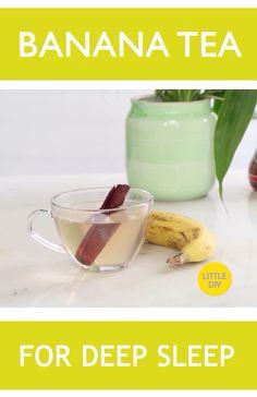 Banana tea for deep sleep – Hausmittel Ginger Benefits, Tea Benefits, Health Benefits, Aloe Vera, Banana Tea, Smoothies, Valeur Nutritive, Natural Health Remedies, Tips