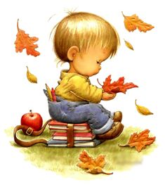 Клипарт PNG - Детки художницы Ruth Morehead Sarah Kay, Cute Images, Cute Pictures, Cute Illustration, Autumn Illustration, Holly Hobbie, Image Digital, Art For Kids, Precious Moments