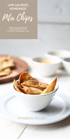 Delicious homemade pita chips great snack that is easy to make.