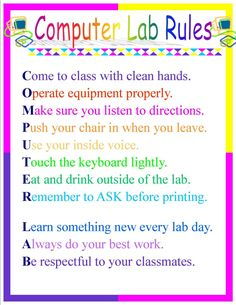 posters for elementary computer lab Kayla Jackson: Collaboration with DTP and Word Processing