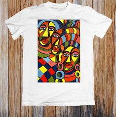 offers lots of fancy vintage t shirts, band t shirts and t shirt designs. Click our website for fancy and comfortable african art design unisex t-shirt with a large variety of choices. African Attire, African Fashion Dresses, Direct To Garment Printer, African Art, Screen Printing, Digital Prints, Shirt Designs, Unisex, T Shirt