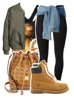 """""""1037"""" by ashley-mundoe ❤ liked on Polyvore featuring NIKE, H&M, RIFLE, MCM, J Brand, Timberland and DKNY"""