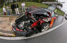Ferrari 458 Italia wrecked, Near Riga, Latvia