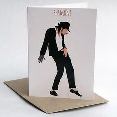 Michael Jackson greeting card Shamon by MeetMeInShermer on Etsy