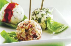 stuffed goat cheese balls | Appetizers | Pinterest | Goat Cheese ...