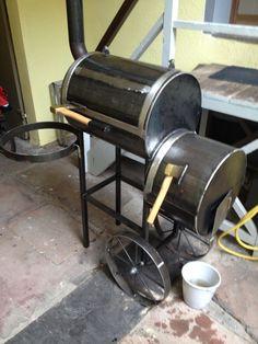 Die 7 besten bilder von smoker selber bauen grill for Outdoorkuche mit grill