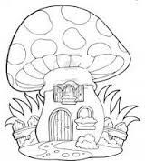 Clipart Outlined Mushroom House With A Wooden Fence - Royalty Free Vector Illustration by visekart House Colouring Pages, Adult Coloring Pages, Coloring Books, Mushroom Drawing, Mushroom Art, Fence Art, Horse Fence, Dog Fence, Mushroom House