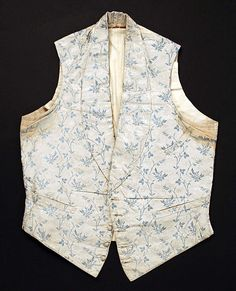 Waistcoat  Date: 1850s Culture: American or European Medium: silk, cotton