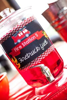 Fire Truck / Firefighter Birthday Party Ideas | Photo 1 of 16 | Catch My Party