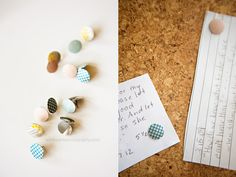 washi tape covered pushpins
