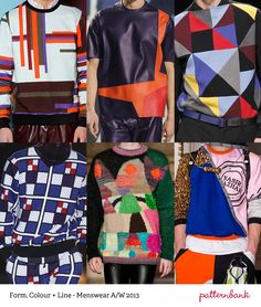 not the same old thing! - Menswear Print Trends – Autumn/Winter 2013 Part 1 catwalks via patternbank.com