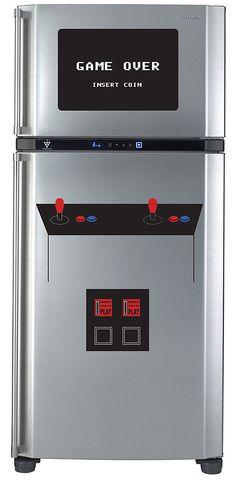 Beautiful Decals Decoration for Your Door: Refrigerator Door Video Game Decal ~ flohomedesign.com Decorating Inspiration
