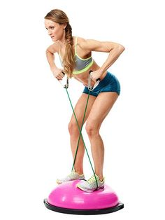 Work on your back, biceps, abs AND legs with this Balance Row exercise
