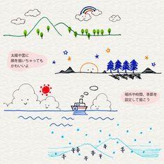 3-8. 植物や風景を描こう   4色ボールペンで!かわいいイラスト描けるかな