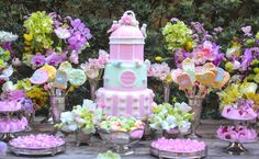 Baby shower candy colors. Blog Vamos receber.