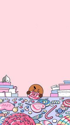 Kawaii Wallpaper, Cute Wallpaper Backgrounds, Wallpaper Iphone Cute, Bts Wallpaper, Cute Wallpapers, Bts Emoji, Bts Aesthetic Wallpaper For Phone, Cute Couple Wallpaper, Line Friends