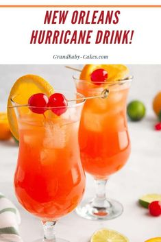 New Orleans Hurricane Drink Recipe The New Orleans Hurricane Drink is the quintessential NOLA cocktail that always get the party started. Perfectly sweet, tropical, and highly addictive, they bring a little bit of The Big Easy right to your home. Party Drinks, Cocktail Drinks, Cocktail Recipes, Sweet Cocktails, Cocktail List, Bourbon Drinks, Refreshing Cocktails, Cocktail Shaker, Party Desserts