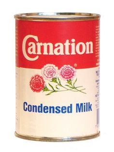 Carnation Condensed Milk. Sunday afternoon tea with tinned peaches or pears and bread & butter.