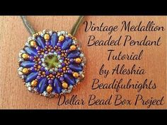 Vintage Medallion Beaded Pendant Tutorial - YouTube