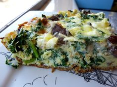 Kale, Mushroom, And Goat Cheese Quiche With A Paleo Crust Recipe on Yummly. @yummly #recipe