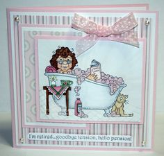 Betty Bubbles HHSD by alora - Cards and Paper Crafts at Splitcoaststampers Origami, Bubbles, Greeting Cards, Paper Crafts, Stamping, Card Ideas, Feminine, Tags, Board