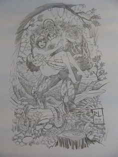 The Swamp Thing (carrying my wife) by Russ Leach