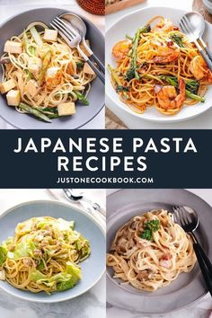 Looking for inspiration to shake up your pasta dinner? These popular Japanese pasta recipes are going to be your new favorites. Fast, simple, and full of umami, they are hard to beat! #japanesefood #pastarecipes | Easy Japanese Recipes at JustOneCookbook.com Easy Japanese Recipes, Asian Recipes, Ethnic Recipes, Japanese Food, Easy Recipes, Healthy Recipes, Pasta Sauce Recipes, Pasta Dinner Recipes, Noodle Recipes