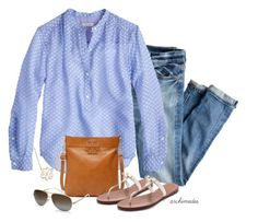 Think Spring by archimedes16 on Polyvore featuring polyvore, fashion, style, J.Crew, Tory Burch, Giani Bernini and clothing