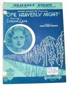 Heavenly Night Nacio Herb Brown Sheet Music 1930 Piano Ukulele Banjo Guitar Sax