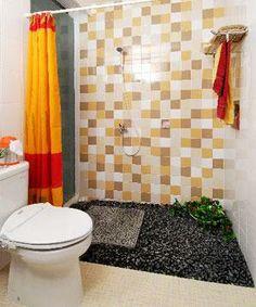Kran air pada kamar mandi minimalis
