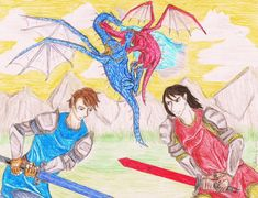 But Thorn should be bigger than Saphira because Eragon has his own sword. Eragon Fan Art, Eragon Saphira, Finding Meaning In Life, Inheritance Cycle, Dragon Movies, The Best Series Ever, Laughing And Crying, Sword, Dragons
