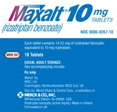 Maxalt Side Effects Depression