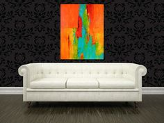 Tango 22 x 28 Abstract Acrylic Painting on Canvas