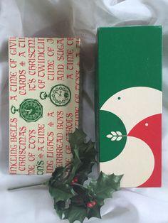 "Vintage 2 Dayton's Christmas Gift Boxes 8"" Long Peace Doves Clocks Mid Century   eBay"
