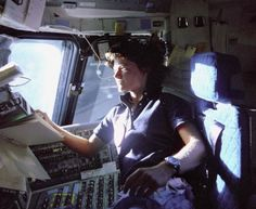 Sally Rider, a US astronaut, in the 70s.