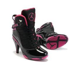 http://www.asneakers4u.com/  Nike Air Jordan 6 Retro High Heels Black Pink