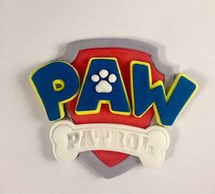 Paw Patrol Fondant Shield Cake Topper Measurements: 5 wide All decorations are made-to-order. Please try to place your order at least 3