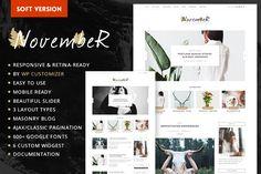 November Soft - Personal Blog Theme @creativework247